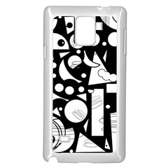 Happy day - black and white Samsung Galaxy Note 4 Case (White)