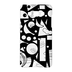 Happy day - black and white Samsung Galaxy A5 Hardshell Case