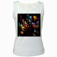 Magical night  Women s White Tank Top