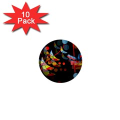Magical night  1  Mini Buttons (10 pack)