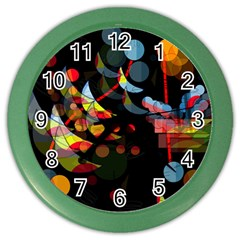 Magical night  Color Wall Clocks