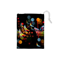 Magical night  Drawstring Pouches (Small)