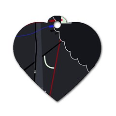 Plug in Dog Tag Heart (Two Sides)