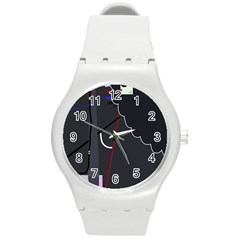 Plug in Round Plastic Sport Watch (M)