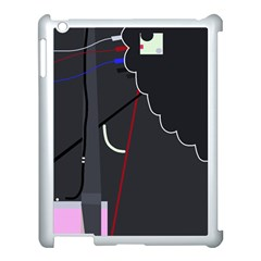 Plug in Apple iPad 3/4 Case (White)