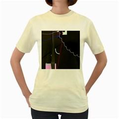 Plug in Women s Yellow T-Shirt