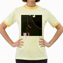 Plug in Women s Fitted Ringer T-Shirts