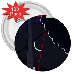 Plug in 3  Buttons (100 pack)