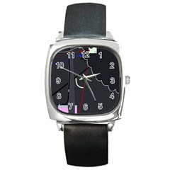 Plug in Square Metal Watch