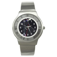 Plug in Stainless Steel Watch