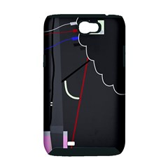 Plug in Samsung Galaxy Note 2 Hardshell Case (PC+Silicone)