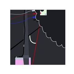 Plug in Small Satin Scarf (Square)