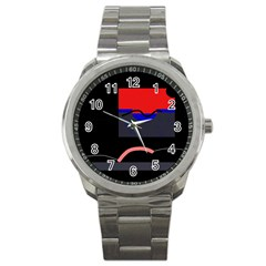 Geometrical abstraction Sport Metal Watch