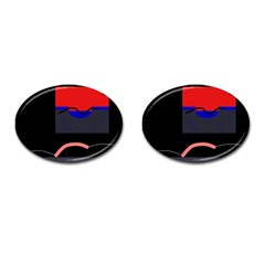Geometrical abstraction Cufflinks (Oval)