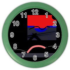 Geometrical abstraction Color Wall Clocks