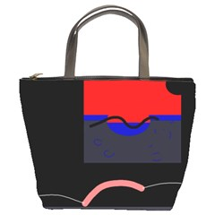 Geometrical abstraction Bucket Bags