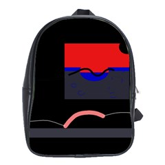 Geometrical abstraction School Bags(Large)