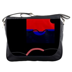 Geometrical abstraction Messenger Bags
