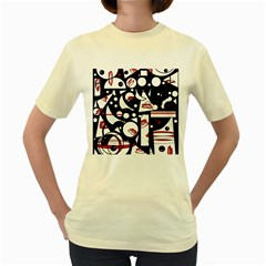 Happy life - red Women s Yellow T-Shirt