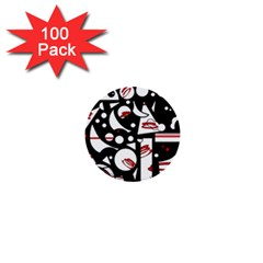 Happy life - red 1  Mini Buttons (100 pack)