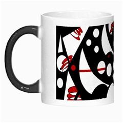 Happy life - red Morph Mugs