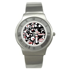 Happy life - red Stainless Steel Watch