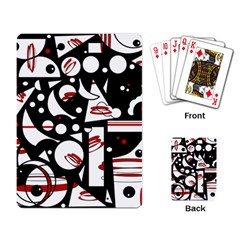 Happy life - red Playing Card