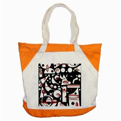 Happy life - red Accent Tote Bag