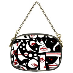 Happy life - red Chain Purses (One Side)