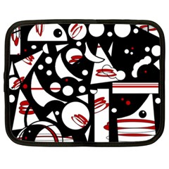 Happy life - red Netbook Case (XXL)