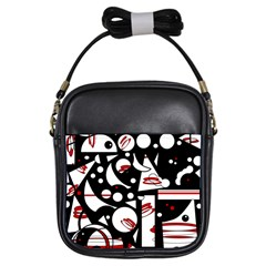Happy life - red Girls Sling Bags