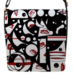 Happy life - red Flap Messenger Bag (S)