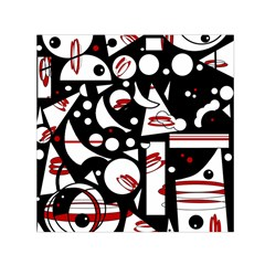 Happy life - red Small Satin Scarf (Square)