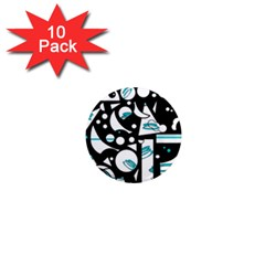 Happy life - blue 1  Mini Magnet (10 pack)