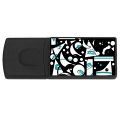Happy life - blue USB Flash Drive Rectangular (2 GB)