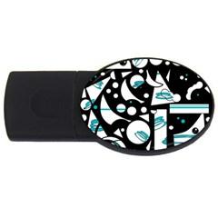 Happy life - blue USB Flash Drive Oval (4 GB)