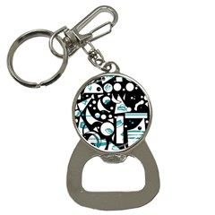 Happy life - blue Bottle Opener Key Chains