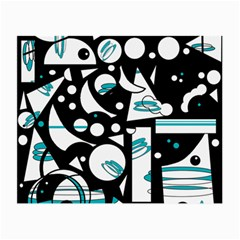 Happy life - blue Small Glasses Cloth (2-Side)