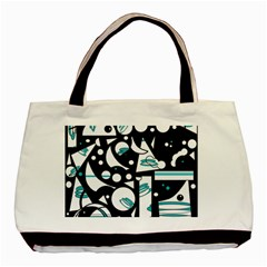 Happy life - blue Basic Tote Bag (Two Sides)