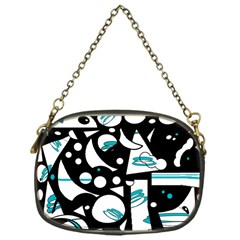 Happy life - blue Chain Purses (One Side)