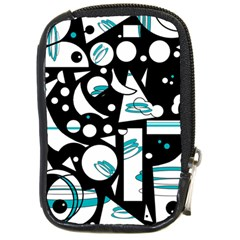 Happy life - blue Compact Camera Cases