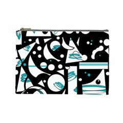 Happy life - blue Cosmetic Bag (Large)