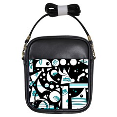 Happy life - blue Girls Sling Bags