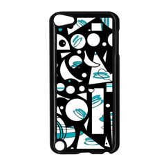 Happy life - blue Apple iPod Touch 5 Case (Black)