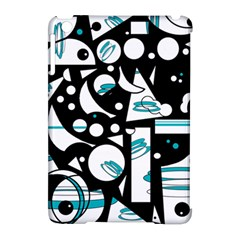 Happy life - blue Apple iPad Mini Hardshell Case (Compatible with Smart Cover)