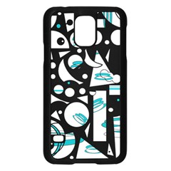 Happy life - blue Samsung Galaxy S5 Case (Black)