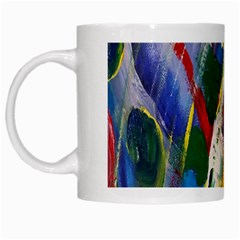 Abstract Art Artwork Colorful White Mugs