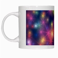 Abstract Background Graphic Design White Mugs
