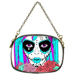 Hippy Chick Sugar Skull Chain Purse (one Side)