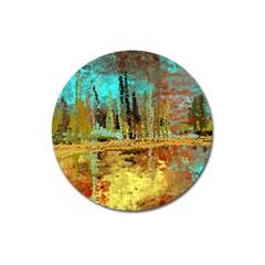 Autumn Landscape Impressionistic Design Magnet 3  (Round)